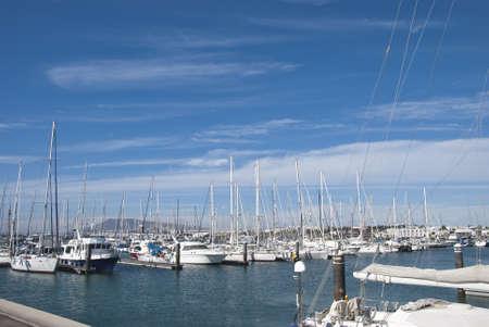 A Yacht Marina in the Canary Islands Stock Photo - 17103017