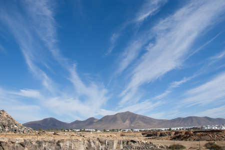 Extinct Volcanoes near Playa Blanca Lanzarote Stock Photo