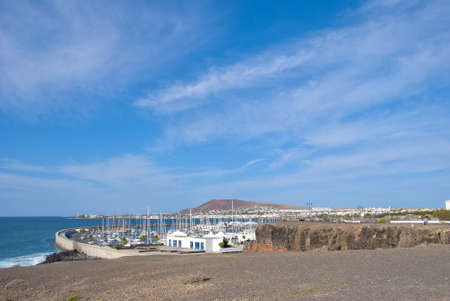 A general view of Playa Blanca Lanzarote