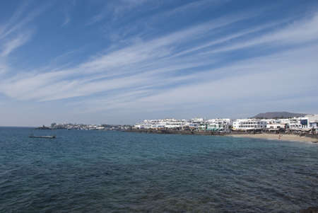 The Bay at Playa Blanca Lanzarote Stock Photo - 17102997