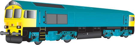 loco: A Large Blue and Yellow Diesel Railway Locomotive