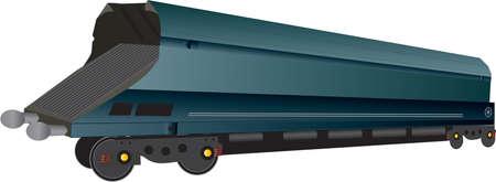 A Large Railway Coal Hopper Wagon Stock Vector - 17852985