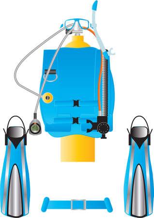 buoyancy: Scuba Diving Equipment Illustration