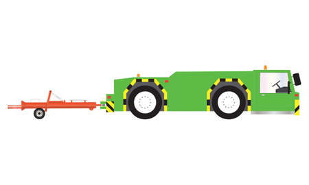 A Green Airport Pushback Tractor Stock Vector - 20883459