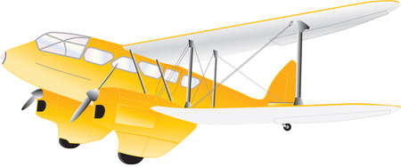 A Vintage Twin Engined Biplane Airliner isolated on white Stock Vector - 22029198