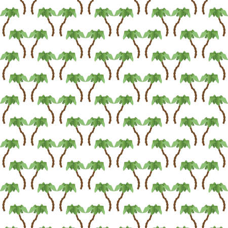 A Repeating Pattern of Palm Trees