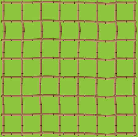 A Background of a trellis of bamboo on green