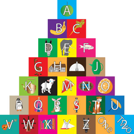 A Childs Alphabet Building Blocks isolated on white