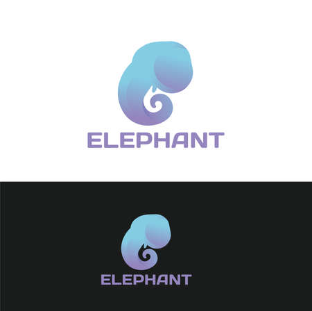Elephant Logo and Icon Concept Vector Illustration, Elephant Head Sign For Zoo Symbol and Reserves