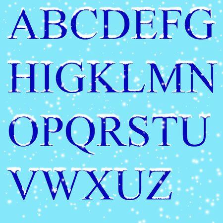 Set - ice letters photo