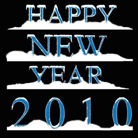 Happy New Year 2010 Stock Photo