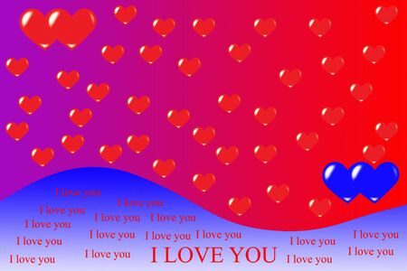 Abstract background of hearts photo