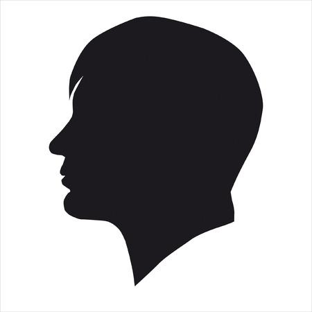 masculino: Cabeza de silueta de hombre