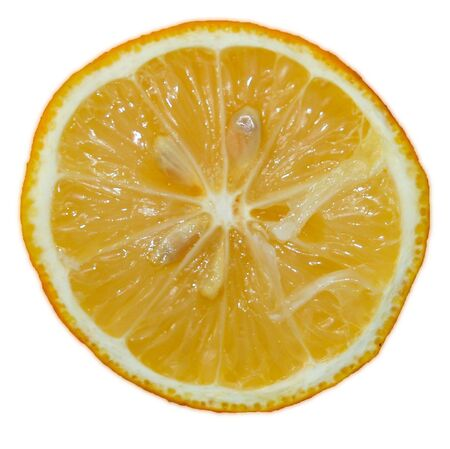 fresh yellow lemon isolated over white Stock Photo