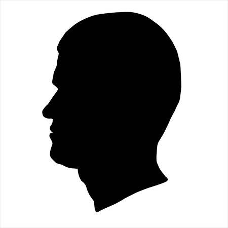 head silhouette: Man head silhouette