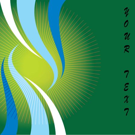 green abstract wave background for your text