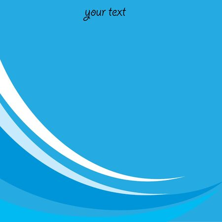 blue abstract wave background for your text