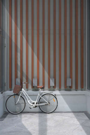Vintage bicycle with wall