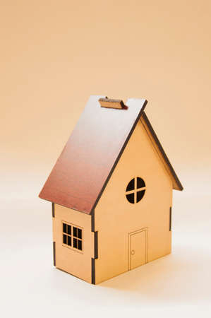 gable house: wooden house Maquette