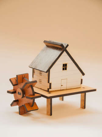 house gable: wooden house Maquette