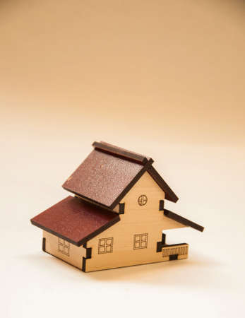 wooden house Maquette