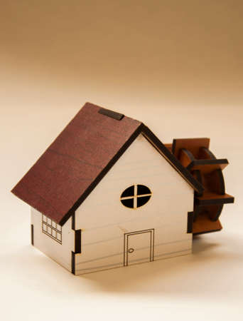 water mill: wooden Water mill Maquette