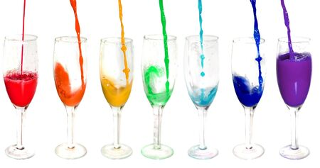 Bright colorful glasses. Isolated