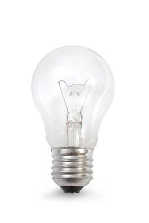 Light bulb isolated on white photo