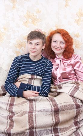 lovely family couple. Happy mother and son Stock Photo - 6474710