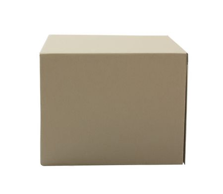 Cardboard box isolated over white background Stock Photo - 6690740