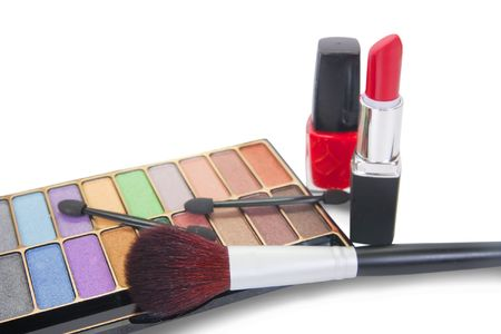 COMPACT MAKE-UP SET isolated  Stock Photo - 6740336