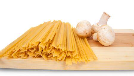 Close up of basic ingredient for italian pasta photo