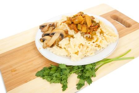 Traditional spaghetti pasta closeup background photo