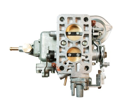 carburettor: carburetor for automobile. isolated on white