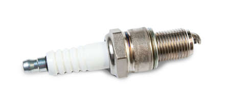 auto spark plug isolated on white background Stock Photo - 7291840
