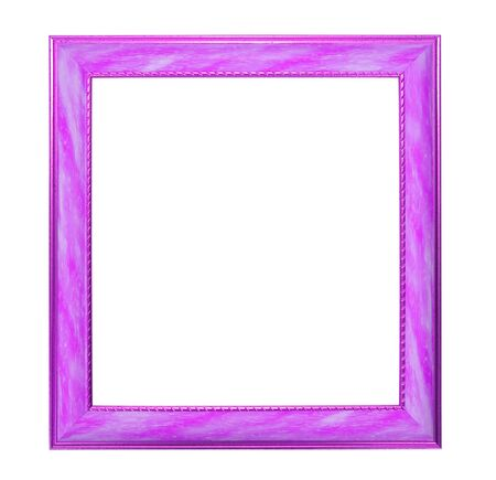 Modern thin pink picture frame, isolated photo