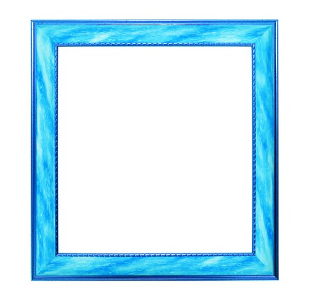 Modern blue picture frame, isolated  Stock Photo - 7576469
