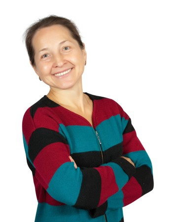 Smiling Middle Aged Woman.Isolated over white Stock Photo - 8143254