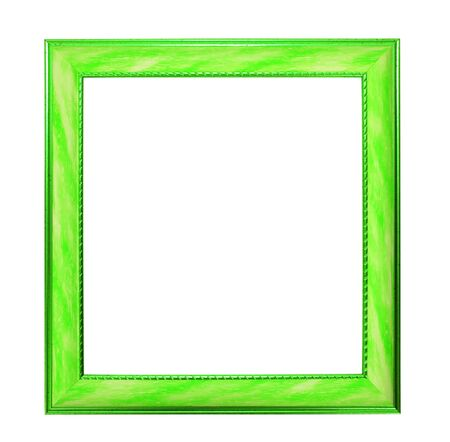 Modern thin  green picture frame photo