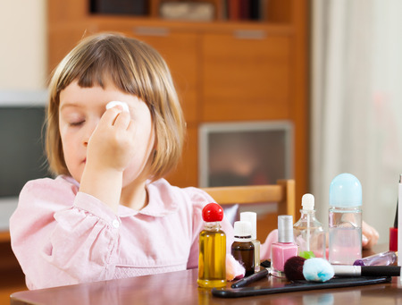 three year old: three year old child  painted cosmetics
