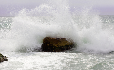 windy day: Beautiful waves of  sea during  windy day.