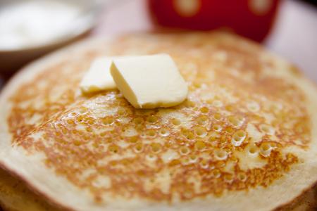 shrove tuesday: traditional Russian  pancakes on Shrove Tuesday. Stock Photo