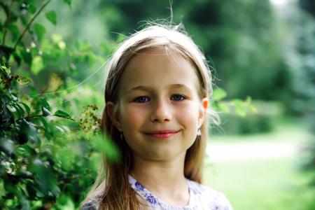 Girl of 8 years walking in   park