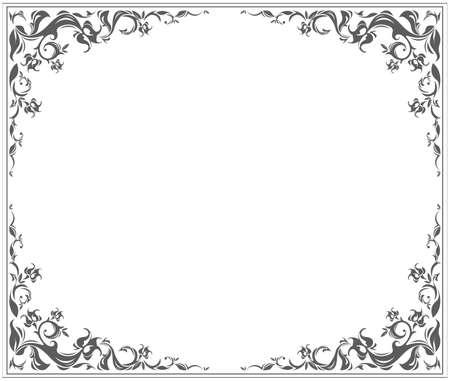 Cornice ovale con ornamento elegante vintage e elementi floreali può essere utilizzato per i tuoi progetti creativi.