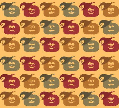 frightful: Halloween pumpkin face pattern for your designs.