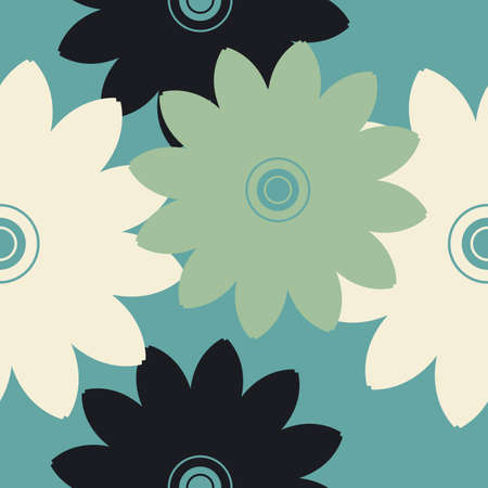 asian gardening: Elegant seamless pattern with decorative flowers can be used for design fabric, backgrounds, wrapping paper, package, covers, linen and more designs.