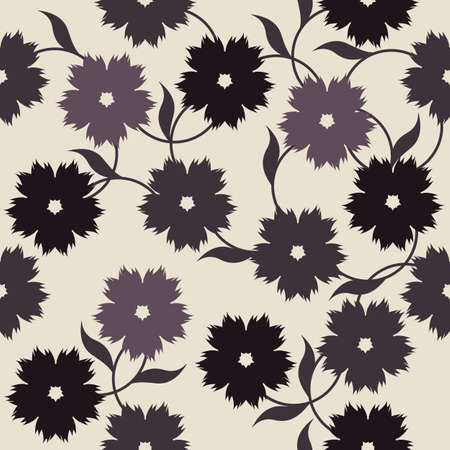 linens: Elegant endless pattern with flowers for your creative designs.  Stylish template can be used for design fabric, textile, linens and more designs.