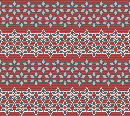 used ornament: Modern seamless pattern with geometric ornament. Christmas pattern, stylized snowflakes and stylish ornament. Retro template can be used for the New Year and Christmas paper and textile.