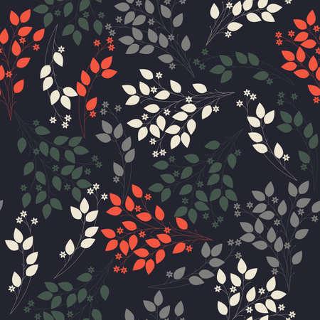Abstraktes nahtloses Muster mit stilvollen Blumen und Blättern. Perfekt für Tapeten, Oberflächenstrukturen, Textilien, Kindertücher, Musterfüllungen, Webseitenhintergründe und kreativere Designs.