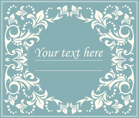 Il telaio cerchio classico floreale con linee eleganti può essere utilizzato per il biglietto di auguri, l'anniversario, l'invito, la copertura e disegni più creativi.